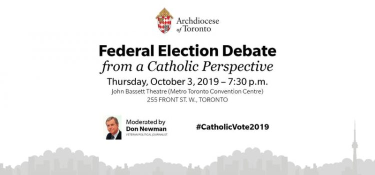 Federal Election Debate from a Catholic Perspective