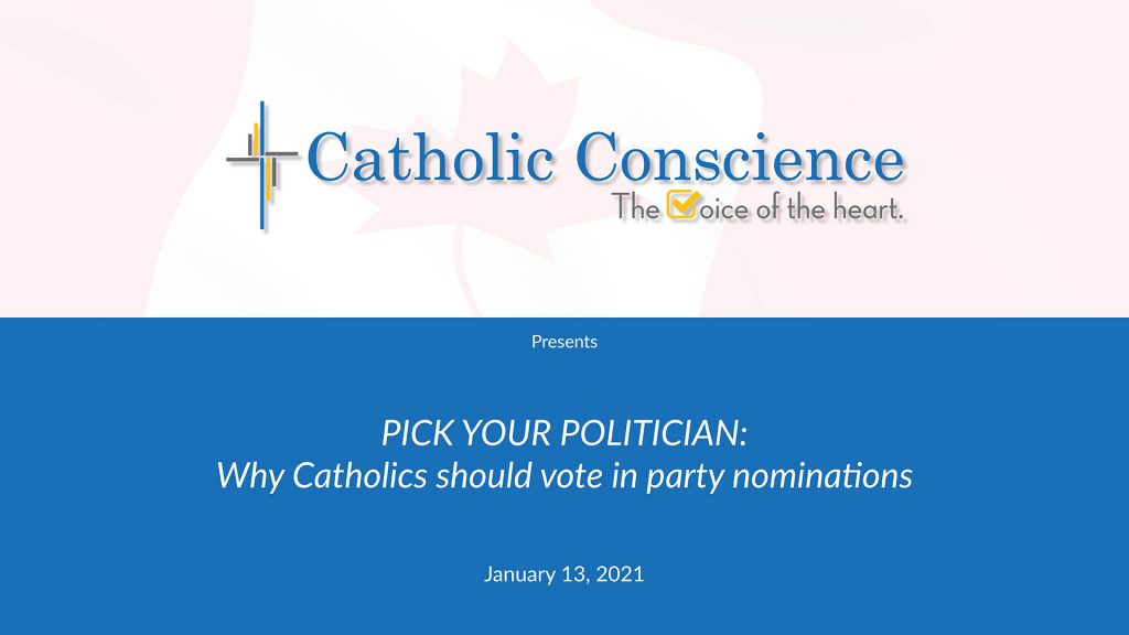 Why Catholics Should Vote In Party Nominations